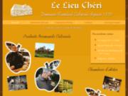 screenshot http://www.lelieucheri.fr le lieu chéri, domaine cidricole