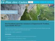 Location studios - Le Mas des Cades à Esparron dans les Gorges du Verdon