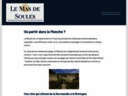 screenshot http://www.lemasdesoules.fr gîtes et chambres d'hôte dans le gard.