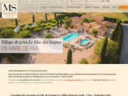 screenshot http://www.lemasdessagnes.fr les gites du mas des sagnes