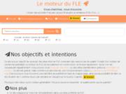 screenshot http://www.lemoteurdufle.fr/ Le moteur de recherche des ressources FLE, FOS, FOU...