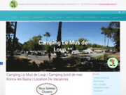 screenshot http://www.lemusdeloup.com/ camping le mus de loup