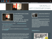 screenshot http://www.lepeintremontillo.com artiste peintre contemporain francais.