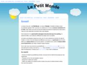screenshot http://www.lepetitmonde.be/ crèche le petit monde