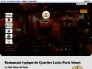 screenshot http://www.lepetitprincedeparis.fr/ restaurant paris sympa, resto sympa paris