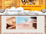 screenshot http://www.leprivilege-megeve.com institut de beauté à megève 74