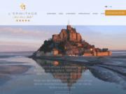 screenshot http://www.lermitage-montsaintmichel.com/index_fr.html mont saint michel hôtel