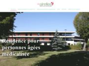 screenshot http://www.les-airelles.net maison de retraite à cambrai - les airelles