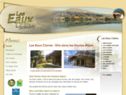 Hébergement : Les Eaux Claires à Saint-Auban-d Oze 05