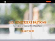 screenshot http://www.les-fenetriers-bretons.fr/ installation fenêtre leul, préfal et menuiserie