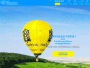 screenshot http://www.les-montgolfieres-champenoises.com vol en montgolfiere dans la marne près de reims