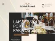 screenshot http://www.lesaintbernard.be/ restaurant le saint bernard, votre restaurant à villers la ville