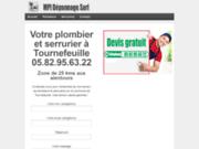 screenshot http://lesartisanstournefeuille.com/ Plomberie à tournefeuille