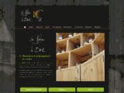 screenshot http://www.lesateliersdubes.fr/ Atelier de menuiserie implanté  en Lozère