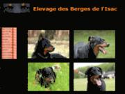 screenshot http://www.lesbergesdelisac.com/ élevage des berges de l'isac