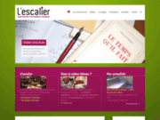 screenshot http://www.lescalier-ecriture.fr atelier ecriture, stage, formation - rennes