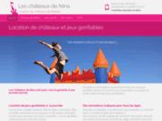 screenshot http://www.leschateauxdenina.fr/ location de chateaux gonflables
