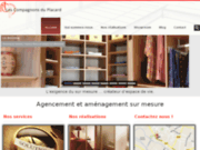 screenshot http://www.lescompagnonsduplacard.com/ aménagement de placard et porte de placard
