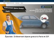 screenshot https://www.lesepavistes.fr/ Épaviste gratuit à Paris et IDF