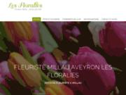 screenshot http://www.lesfloralies-millau.com fleuriste en Aveyron 12