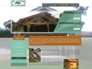 screenshot http://www.lesjardinsdeparmenie.fr construction en bois à beaucroissant, les jardins