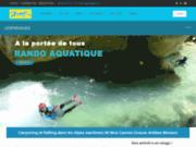 screenshot http://www.lespirogues.com activité de rafting, canyoning, via ferrata à nice