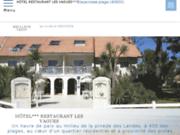 screenshot http://www.lesvagues.com/ Hôtel en bord de mer dans les Landes