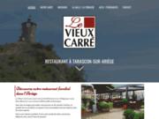 screenshot http://www.levieuxcarre.fr hôtel restaurant le vieux carré