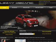 screenshot http://www.lezay-mecanic.com garage renault et dacia lezay mécanic