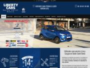 screenshot http://www.libertycars.fr voitures sans permis aixam en ile-de-france 93