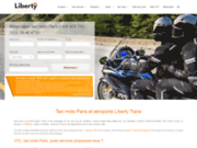 screenshot http://www.libertytrans.fr/ liberty moto taxi paris orly et roissy