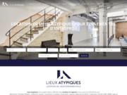 screenshot http://www.lieuxatypiques.com lieux atypiques