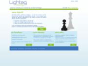 screenshot http://www.lightag.com conseil en marketing des tic