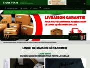 Linge de maison Ligne Verte broderie dans les Vosges