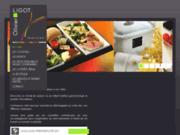 screenshot http://www.ligot-traiteur.com/ traiteur paris et boulogne : ligot traiteur