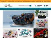 screenshot http://www.lila-boheme.com vente de maroquinerie artisanale