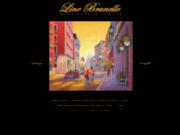 screenshot http://www.linebrunelle.com brunelle, line artiste peintre