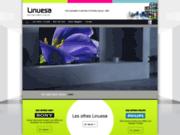 screenshot http://www.linuesa-pontarlier.com/ Spécialiste TV et multimédia à Pontarlier