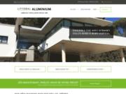 screenshot http://www.littoralaluminium.com/ menuiserie aluminium