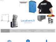 screenshot http://www.locaevent.fr/ une boutique e-commerce en ligne,