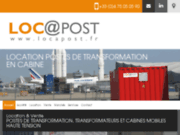 screenshot http://www.locapost.fr location et vente de poste de transformation.