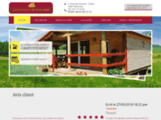 screenshot http://www.location-gites-chalets-sancerre.com location de chalets  sancerre cher 18
