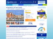 screenshot http://www.location-port-leucate-barcares-roussillon-goelia.com/ location en résidence vacances à Port-Leucate
