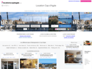 screenshot http://www.locationscapdagde.com/ locations de vacances au cap d'agde