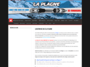 screenshot http://www.locationski-laplagne.com/ location de ski à La Plagne