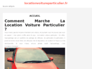Site web location voiture particulier