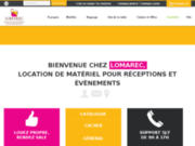 screenshot http://www.lomarec.com location de matériel pour réceptions et événements