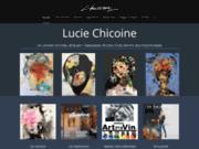 screenshot http://www.luciechicoine.com l. chicoine :  peintures oniriques figuratives