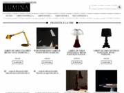 screenshot http://www.lumina.fr luminaire design
