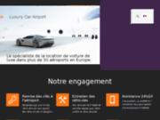 screenshot http://www.luxury-car-airport.fr Société de location de véhicules de luxe partout en France